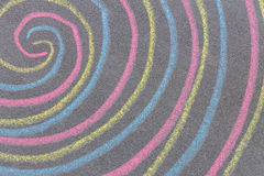 Chalk with spin cycle on chalkboard background Stock Photos