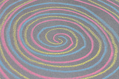 Chalk with spin cycle on chalkboard background Royalty Free Stock Image
