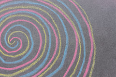 Chalk with spin cycle on chalkboard background Stock Photography