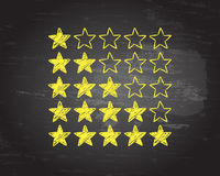 Chalk Star Ratings Royalty Free Stock Images