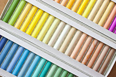 Chalk sticks. Set of pastels in various tones Royalty Free Stock Photo