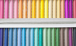 Chalk sticks. Set of pastels in various tones, background Royalty Free Stock Photography