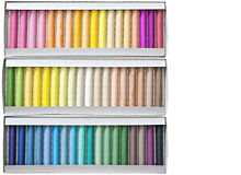 Chalk sticks. Set of pastels in various tones Royalty Free Stock Photography