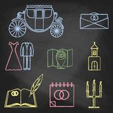 CHALK style icons color Stock Photography
