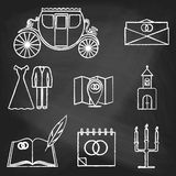 Chalk style icons color royalty free stock photography