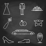 CHALK style icons color Stock Photo