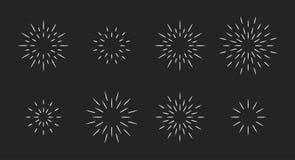 Free Chalk Style Star Fireworks Burst Pattern Set Stock Photo - 189687360