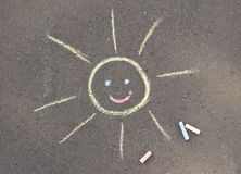 Chalk sun Stock Photo