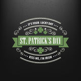 Chalk typographic design for St. Patrick Day. Vector illustration Royalty Free Stock Photography
