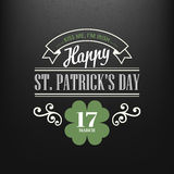 Chalk typographic design for St. Patrick Day. Vector illustration Royalty Free Stock Images
