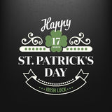 Chalk typographic design for St. Patrick Day. Vector illustration Royalty Free Stock Photo