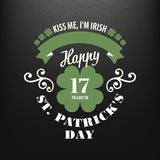 Chalk typographic design for St. Patrick Day. Vector illustration Royalty Free Stock Image