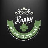 Chalk typographic design for St. Patrick Day. Vector illustration Stock Image