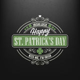 Chalk typographic design for St. Patrick Day. Vector illustration Stock Photography