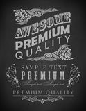 Chalk typography, calligraphic design elements Royalty Free Stock Image