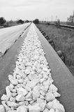 The chalk way BW Stock Photo