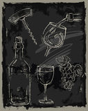 Chalk wine Royalty Free Stock Photo