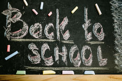 Chalk With Words Back To School Stock Images