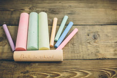 chalk with words back to school Stock Image