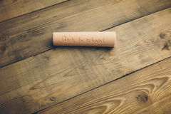 Chalk with words back to school. Chalk with the words back to school Stock Photos