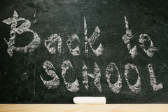 Chalk with words back to school Stock Photography