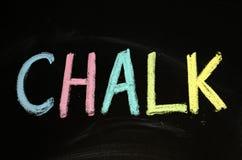 Chalk written on blackboard stock photography