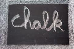 Chalk written on Chalkboard Stock Images