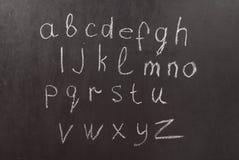 chalkboard алфавита Стоковые Фотографии RF