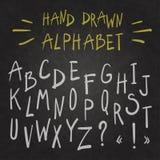 chalkboard алфавита Стоковая Фотография RF