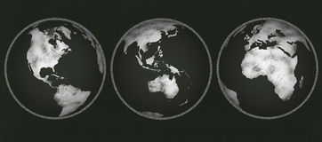Chalkboard - глобусы мелка Стоковые Изображения