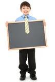 chalkboard мальчика Стоковая Фотография RF