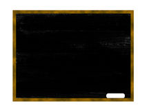 Chalkboard. Blank chalkboard illustrated with a chalk in front Stock Photography