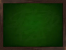 Chalkboard. A green chalkboard in a frame of wood Royalty Free Stock Images