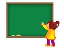 сочинительство ребенка chalkboard Стоковое Изображение RF