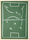 Chalkboard. Close up of a soccer tactics drawing on chalkboard royalty free stock photo