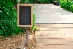 Chalkboard. The chalkboard signs tell pathway Royalty Free Stock Photo