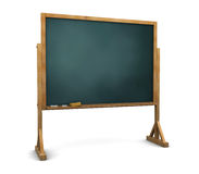 Chalkboard. 3d illustration of chalkboard stand over white background Stock Photography