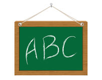 Chalkboard with ABC. Green chalkboard with ABC vector illustration Royalty Free Stock Photography