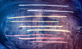 Chalkboard abstract background with colored lines. Dirty chalkboard as abstract background with colored lines Stock Images