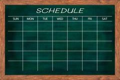 Chalkboard aktywności rozkład Fotografia Stock