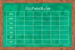 Chalkboard aktywności rozkład Obrazy Stock