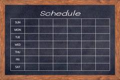 Chalkboard aktywności rozkład Obrazy Royalty Free