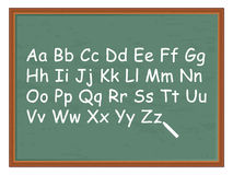 Chalkboard and alphabet Royalty Free Stock Photos