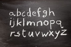 Chalkboard alphabet Stock Photography