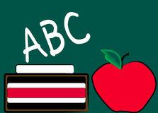 Chalkboard and apple vector illustration