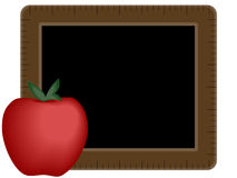 Chalkboard with Apple. A chalkboard with an apple drawn in Illustrator Royalty Free Stock Image
