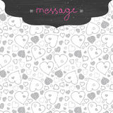 Chalkboard art hearts frame seamless pattern Stock Photography