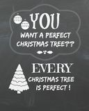 Chalkboard Art Perfect Christmas Tree Royalty Free Stock Photos