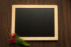 Chalkboard as background to write caption. Stock Photo
