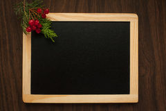 Chalkboard as background to write caption. Royalty Free Stock Images